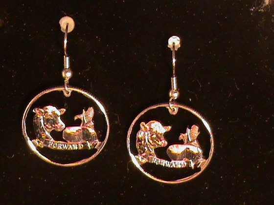 Wisconsin State Quarter Earrings