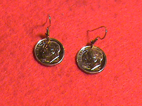 US dimes Gold Plated earrings