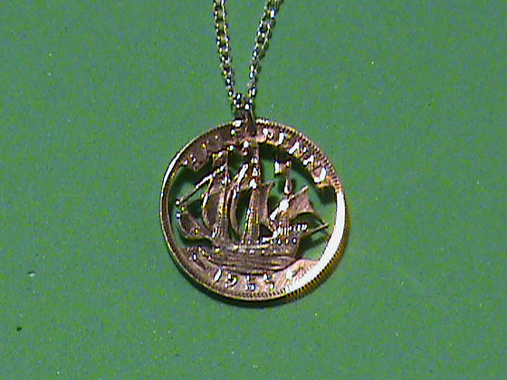 British Half Pence Necklace