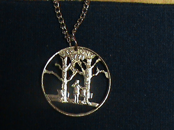 Vermont State Quarter with 24 inch chain