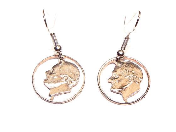 Hand Cut US Dimes made into Dangle Earrings
