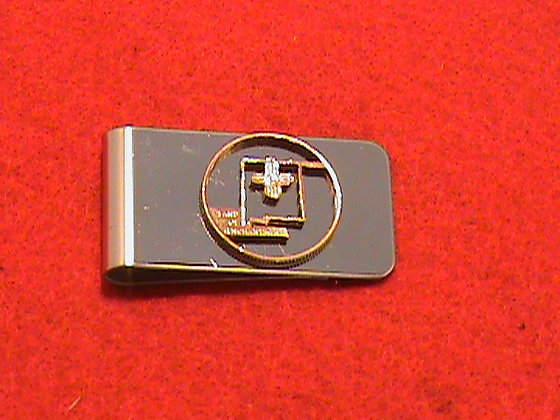 Hand Cut New Mexico coin Money clip.