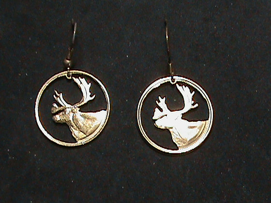 Canada Quarter cut and made into Earrings