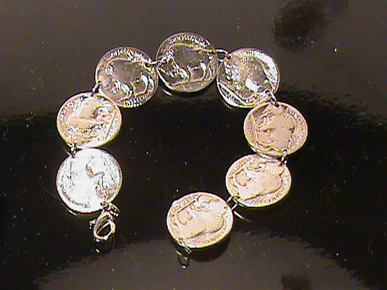 Buffalo Head Nickels made into a Bracelet
