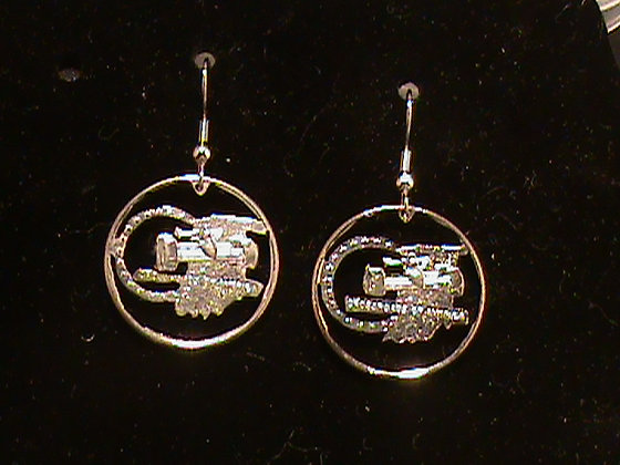 Indiana State Quarters made into Earrings
