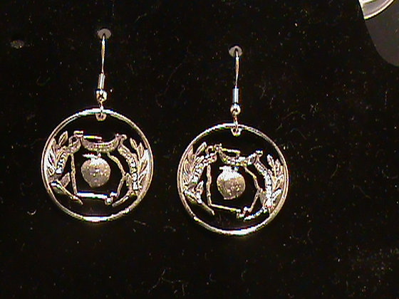 Georgia State Quarters made into Earrings