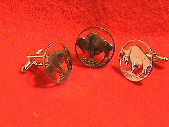 Indian Head Nickel Buffalo Side 24 kt gold plated