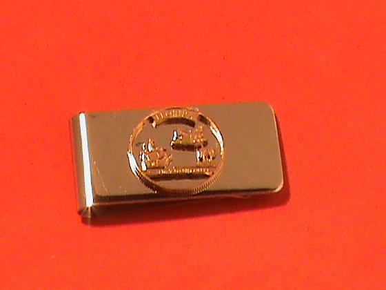 Florida state quarter money clip