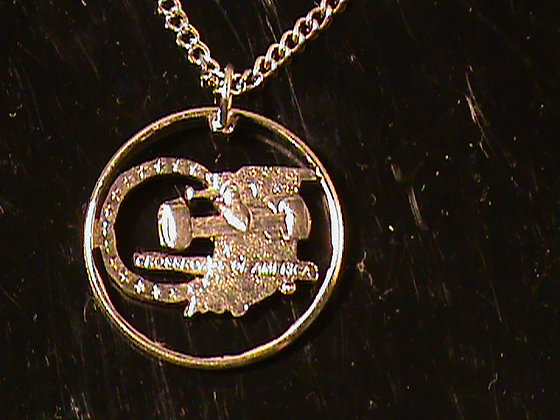 Indiana State Quarter with chain