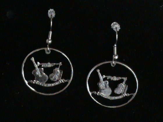 Tennessee State Quarter Cut and made into Earrings