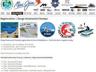 Gorge Downwind Champs Registration Live