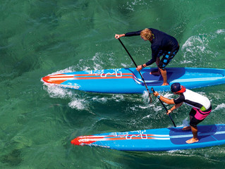 Starboard sponsors SUP Hotspot - $400 each M/F + 2 Paddles for age group winners and auction.
