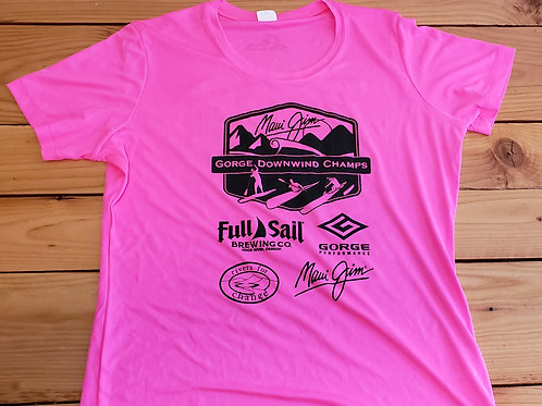 Womens cut Neon Pink Saftey Jerseys - Free Shipping