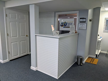 Stretch studio reception area