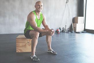 Man fitness training.