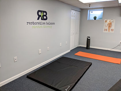 Stretching area and stretch mats