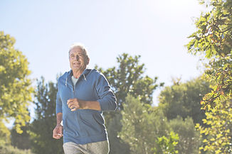 Man going for a run for health and fitness.