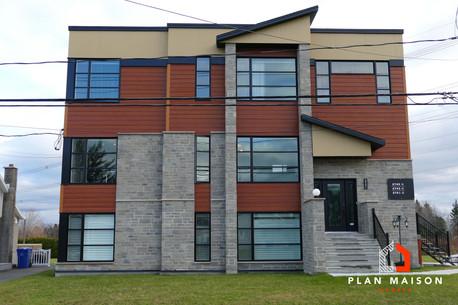 plan maison moderne a etage