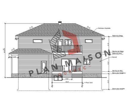 plan maison 6 chambres