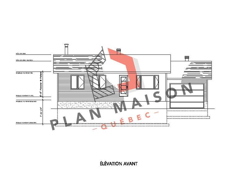 plan maison plain pied 2 chambres avec garage