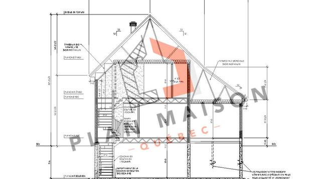 maison moderne etage plan