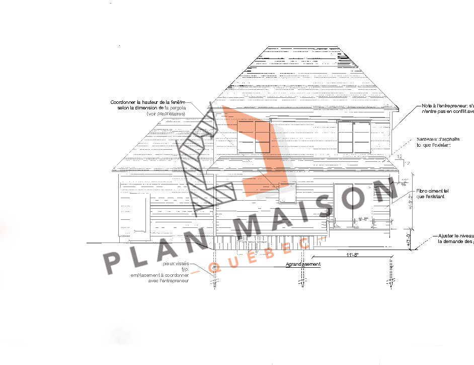 maison etage plan
