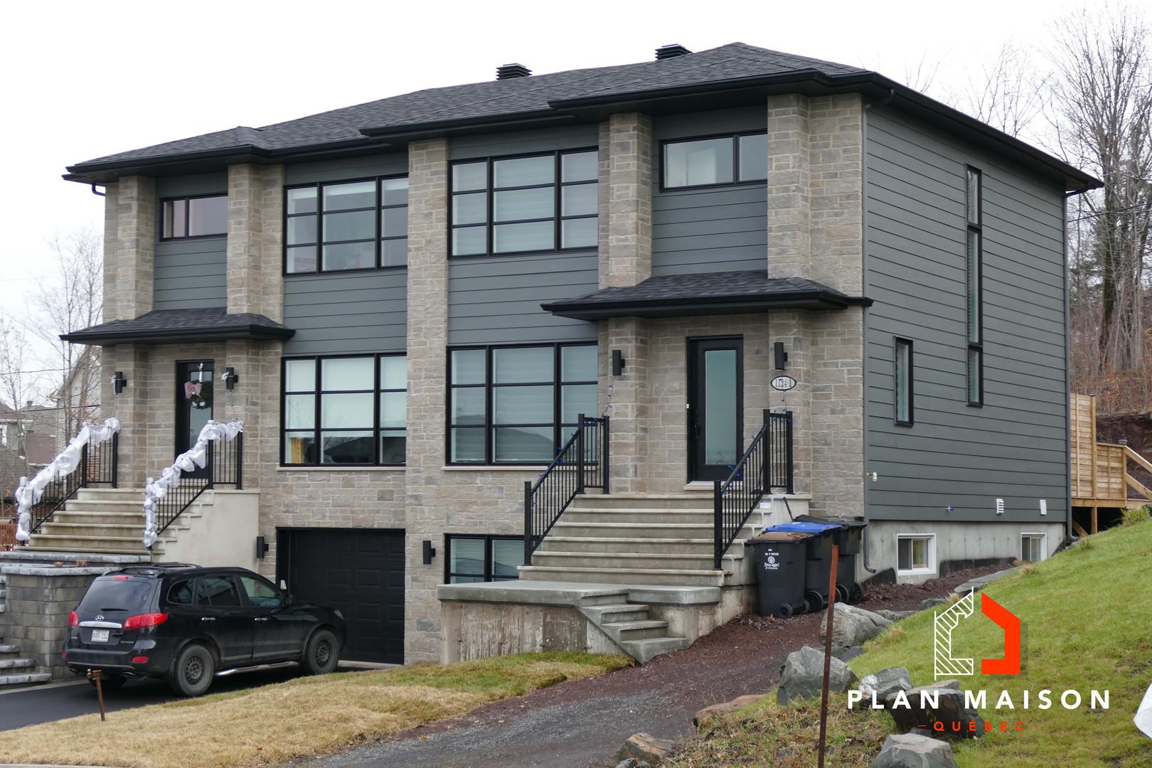 maison à étage moderne