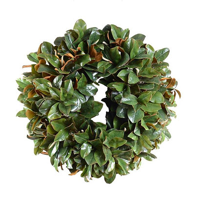 "36"" Magnolia Leaf Wreath, Grand Luxe"