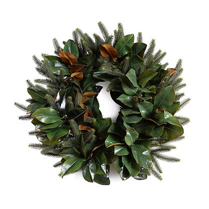 "24"" Magnolia, Fir Wreath"