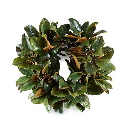 """22"""" Magnolia Leaf Wreath"""