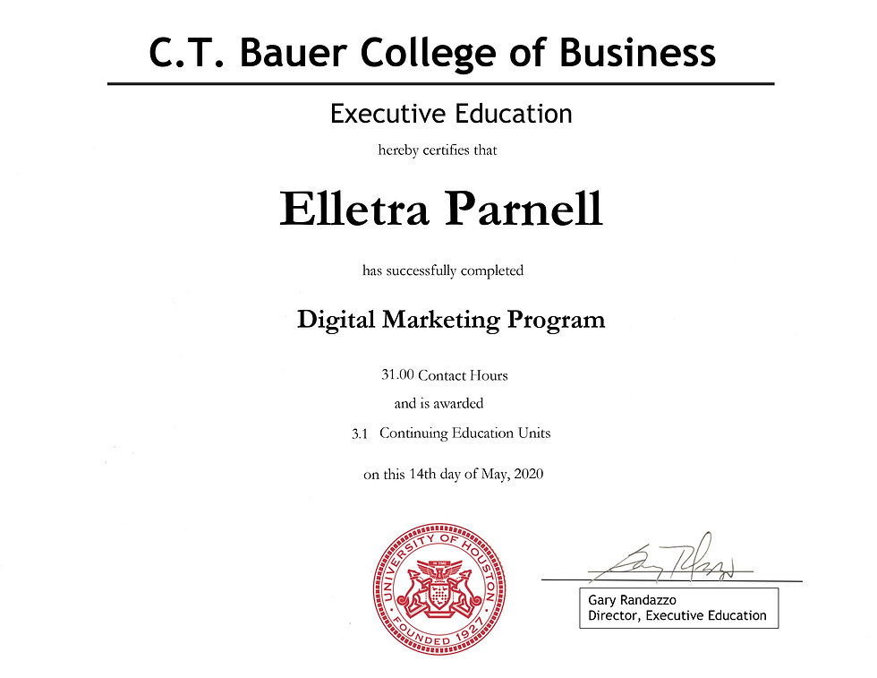 Digital Marketing - Elletra Parnell - 05