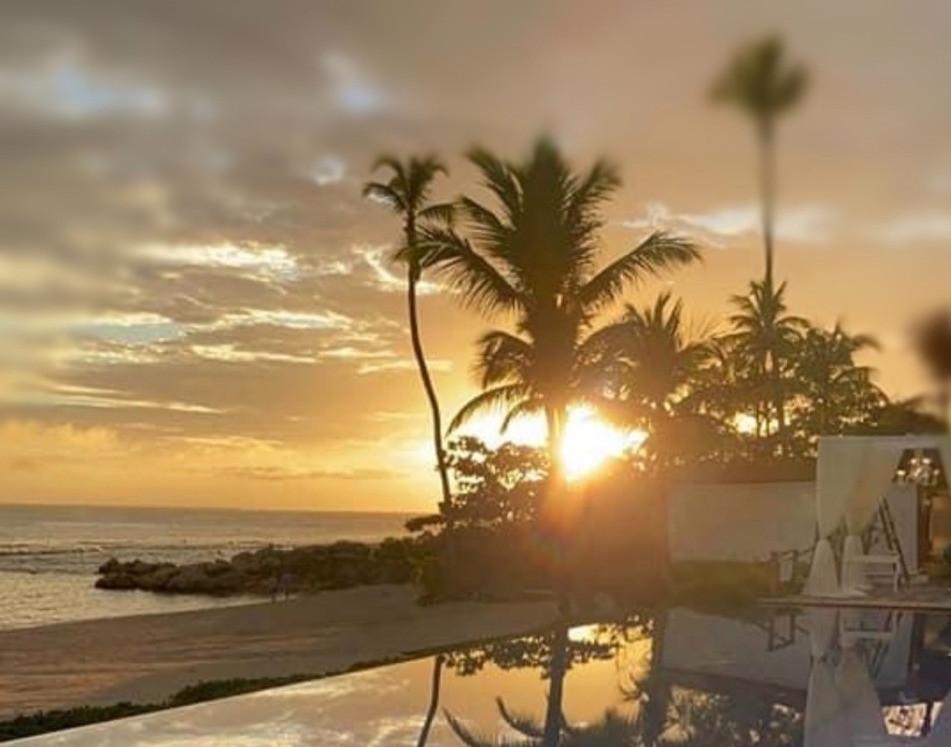 Sunsetting over the Minitas Beach Club at Casa de Campo in La Romana, DR