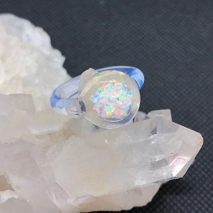Opal Ring Sz 4.5