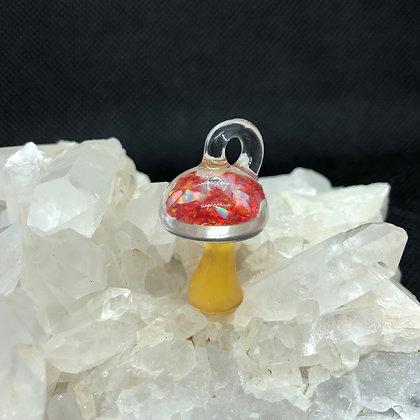 Opal filled Mushroom pendant
