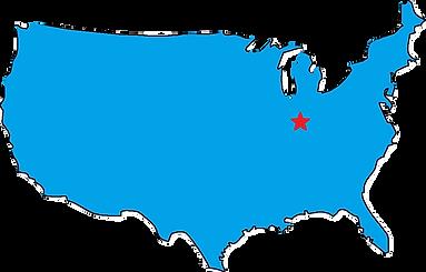 USA map w Dayton Star_burned.png