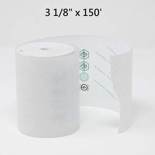"""EcoThermal Receipt Roll 3 1/8"""" x 150'"""
