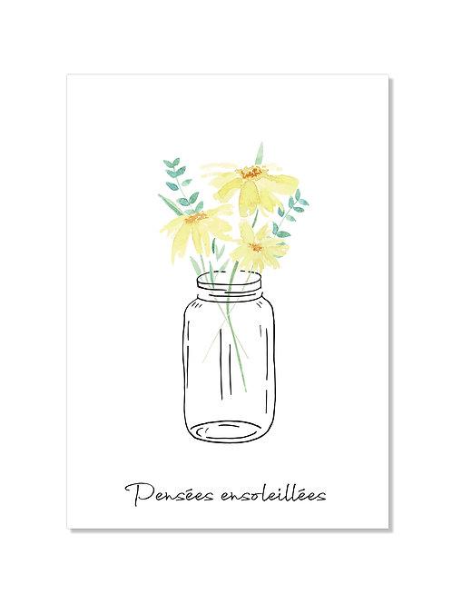 Carte de soutien - fleurs jaunes