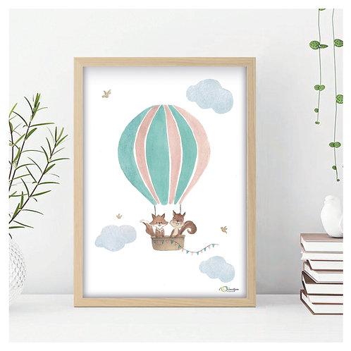 Affiche A4 - montgolfière