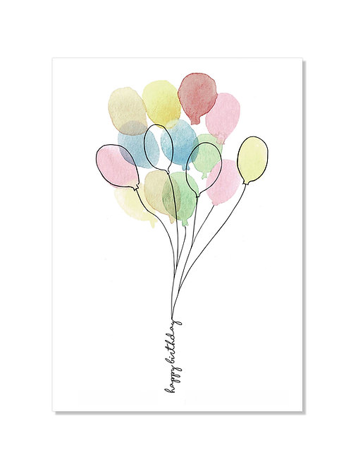 Carte anniversaire - Ballons