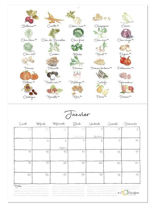 Calendrier 2021 des fruits et légumes de saison