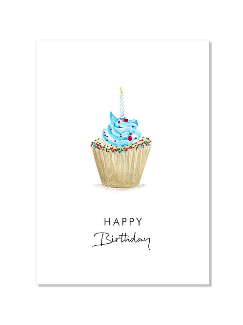 Carte anniversaire - cupcake