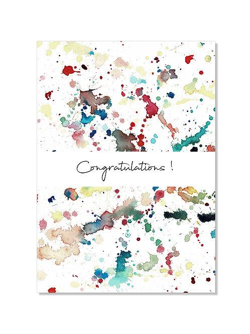 Carte félicitations - Splatters