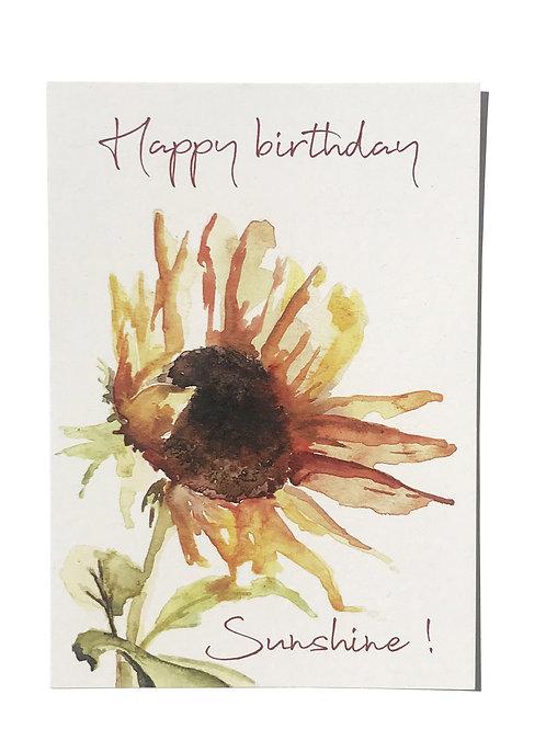 Carte anniversaire - Tournesol