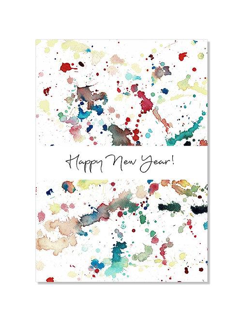 Carte nouvelle année - splatters