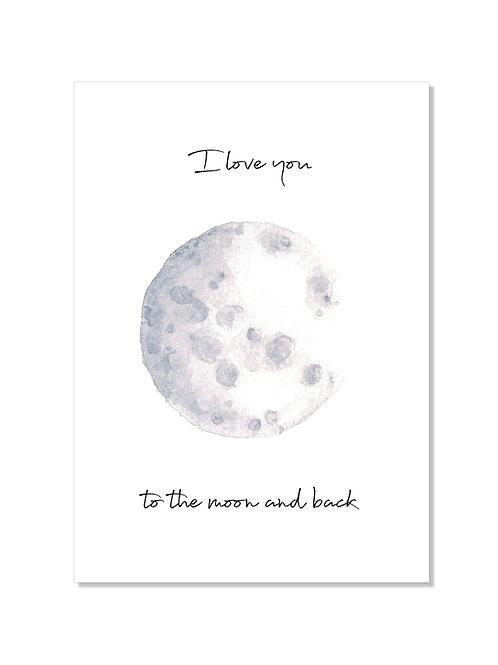 Carte compliment - Moon