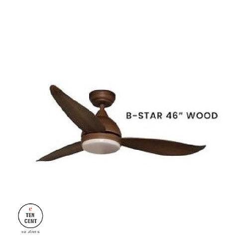 """FANCO FAN_B-STAR 46"""" WOOD"""