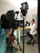 Poonam being filmed by Channel7