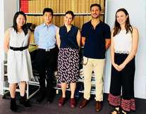 Charmaine, Min Ho, Lydiaand Maddie at the end of the 2017/18 Summer Student Project in Carmine's lab