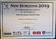 Chris' Award at 2019 New Horizons Meeting