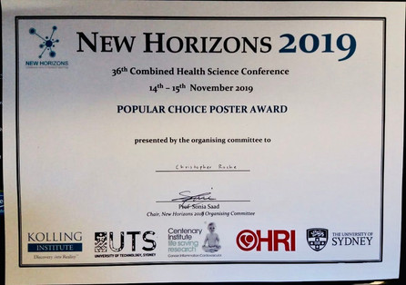Chris' Award at 2019 New Horizons Meeting